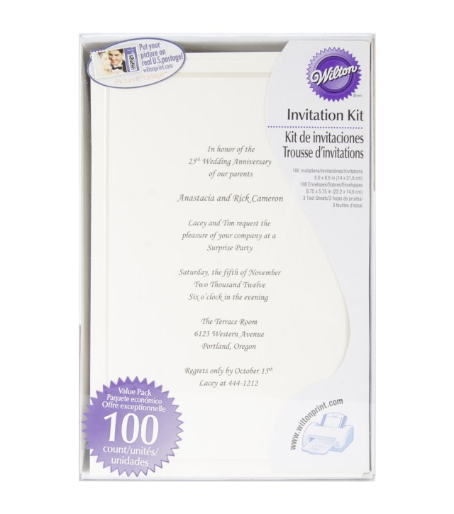 Wilton Wedding Invitation Kits Invitation Kit Makes 100 Ivy Single Border Joann