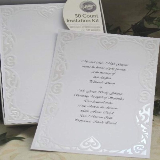 Wilton Wedding Invitation Kits Wilton Wedding Invitation Kits Invitations Print Wizard With