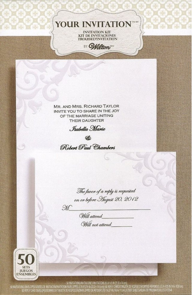 Wilton Wedding Invitation Kits Wilton Wedding Invitations Since The Wedding Is Not A Single Minute