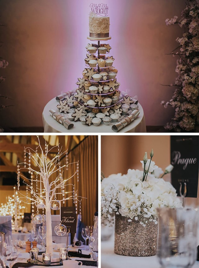 Winter Wedding Decorations Michelle And Chris Magical Winter Wedding At Rivervale Barn Real