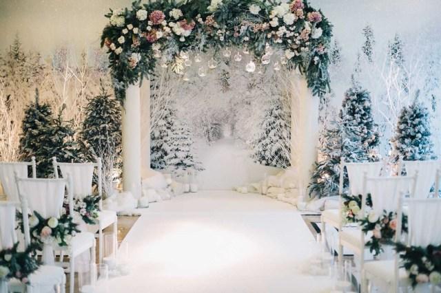 Winter Wedding Decorations Winter Wedding Decor Stunning Ceremony Arch Fairy Forest Within