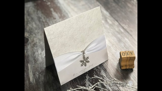 Winter Wedding Diy How To Make Your Own Diy Winter Wedding Invitations Tutorial