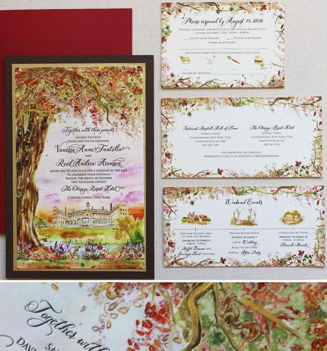 Woodland Wedding Invitations Autumn Woodland Wedding Invitation Momental Designsmomental Designs