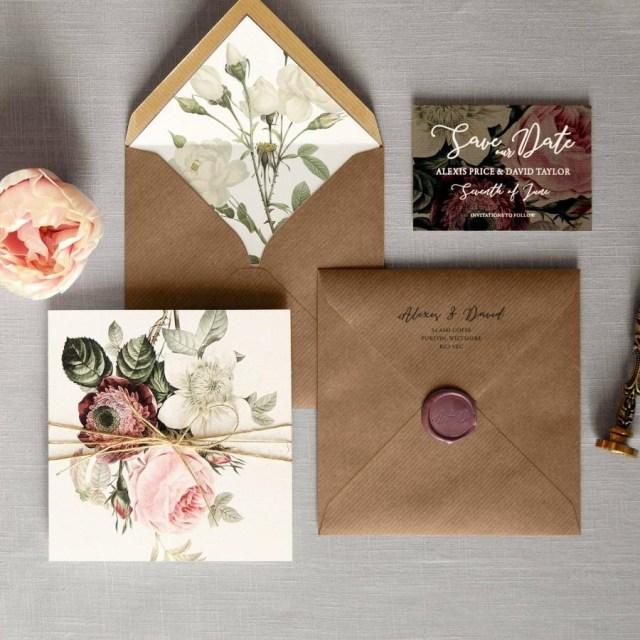 Woodland Wedding Invitations English Garden Luxury Folding Wedding Invitations Save The Date