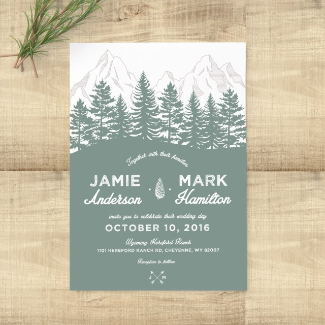 Woodland Wedding Invitations Forest Rustic Woodland Wedding Invitation Suite Pixie