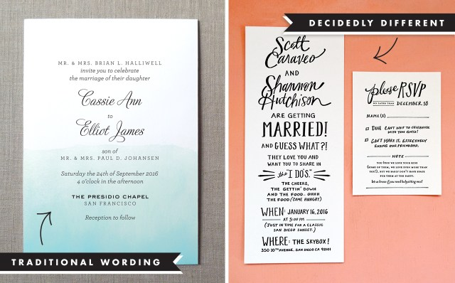 Wording Wedding Invitations Wedding Invitation Wording And Etiquette