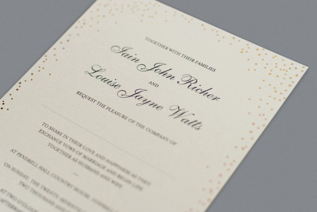 Words To Put On A Wedding Invitation Wedding Invitation Wording How To Get It Right Foil Invite Company