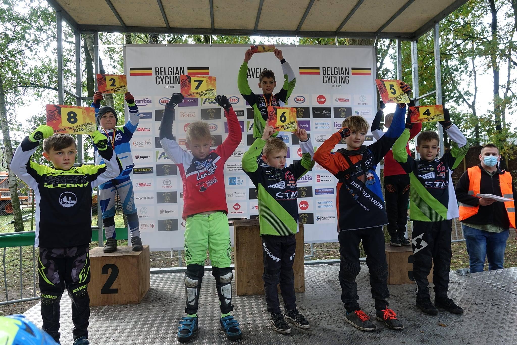 BMX Dennenteam Keerbergen haalt twee keer goud en een keer zilver op BK in Ravels