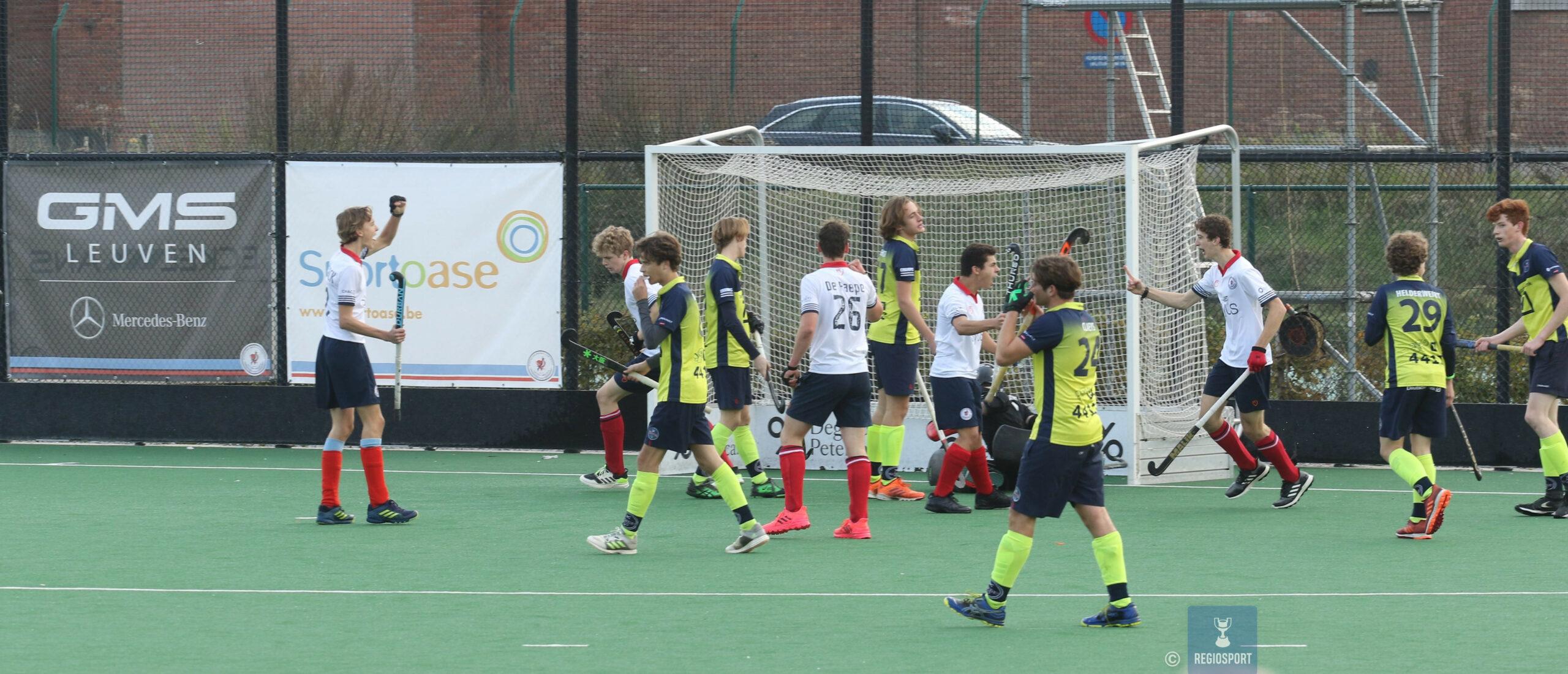 U19 boys KHC Leuven nemen de maat van Indiana De Pinte