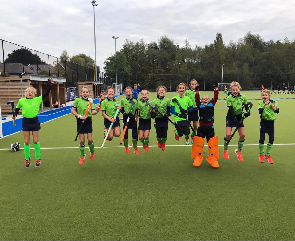 U12 girls 2 Merode Hockey Grimbergen zijn veerkrachtig