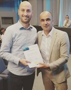 Diploma-uitreiking Uefa A met bondscoach Roberto Martinez