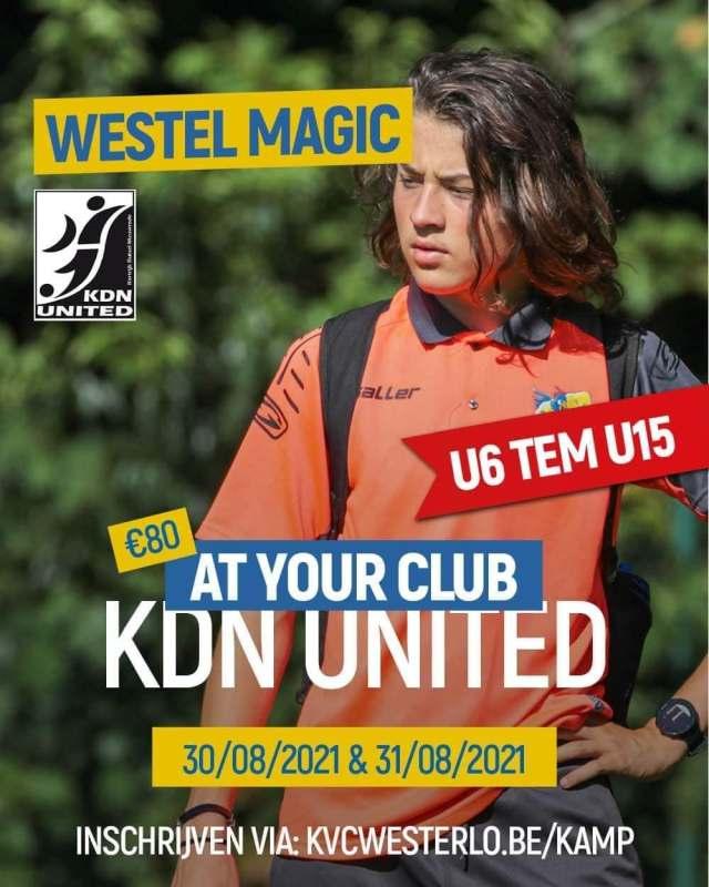 KDN United werkt samen met Westerlo voor hun jeugdstage