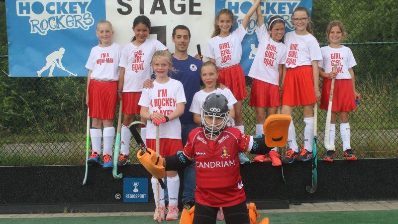Jonge hockeyspelers waren blij dat ze terug op het veld mochten op vijfde editie van Hockey Rockers!