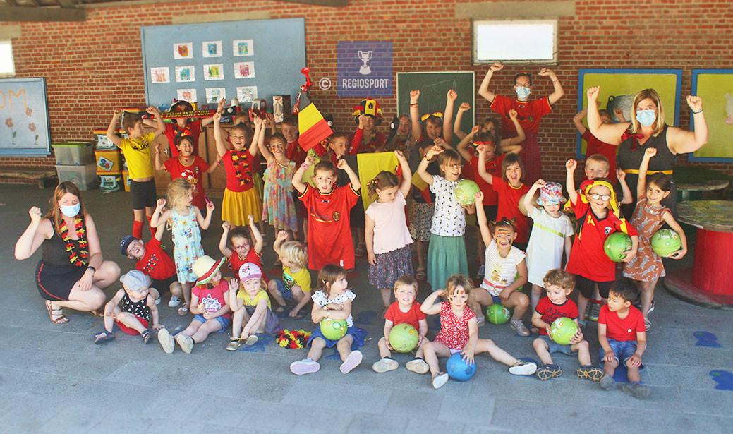 VBS Tremelo en De Klimboom steunen de Rode Duivels!