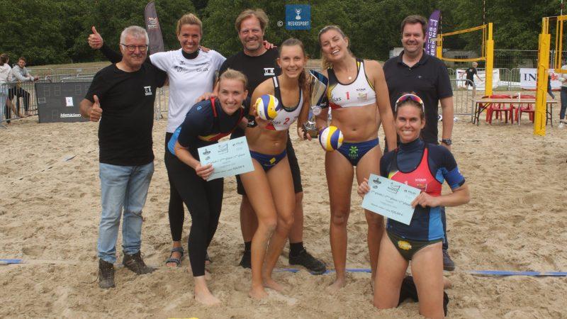 Van Bree-Ruysschaert kloppen Catry-Vandesteene in derde set op zevende manche BK beachvolley in Haacht