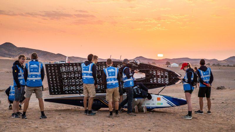 Belgisch Solar Team zakt plaatsje na hectische dag in Marokkaanse Sahara