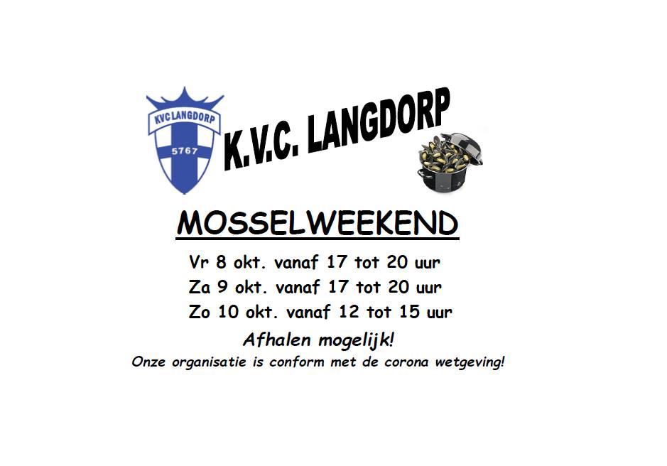 KVC Langdorp organiseert 75ste mosselfestijn ten voordele van de jeugd