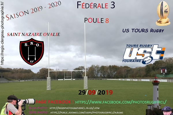29-09-19 F3 Saint Nazaire Ovalie – US TOURS Rugby N° 20 pica