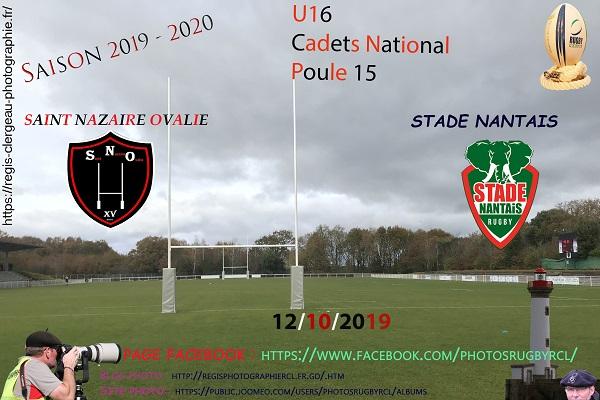12-10-18 U16 Stade Nantais – Saint Nazaire Ovalie N°3 Pica