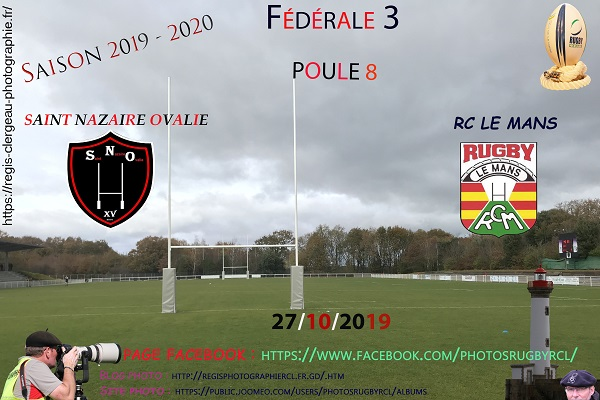 27-10-19 F3 Saint Nazaire Ovalie – Rugby Club Le Mans N°20 Pica