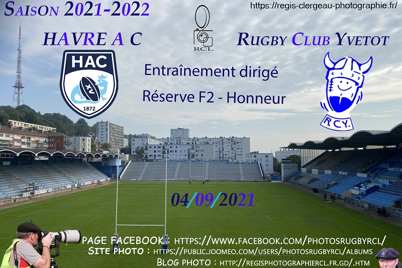 04-09-21 F2B – Honneur Entraînement dirigé Havre AC Réserve – Rugby Club Yvetot N°1 Pica