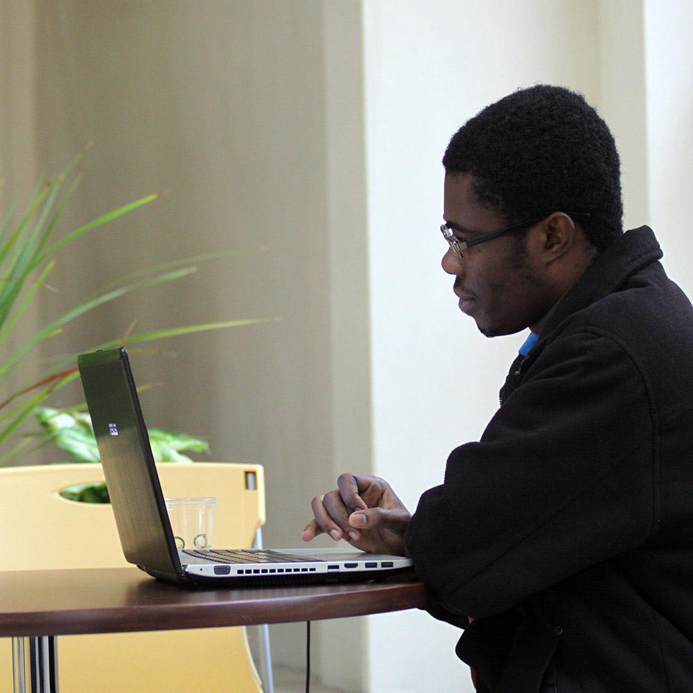 Student studying - Regis College