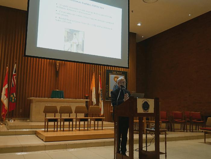 Rev. Dr. Francis X. Clooney, SJ, delivers the 2019 Regis College Chancellor's Lecture