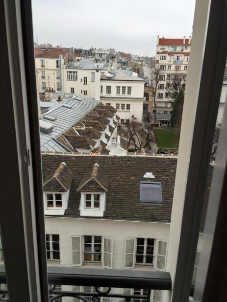 View from our room - top left corner is where the Eiffel Tower was
