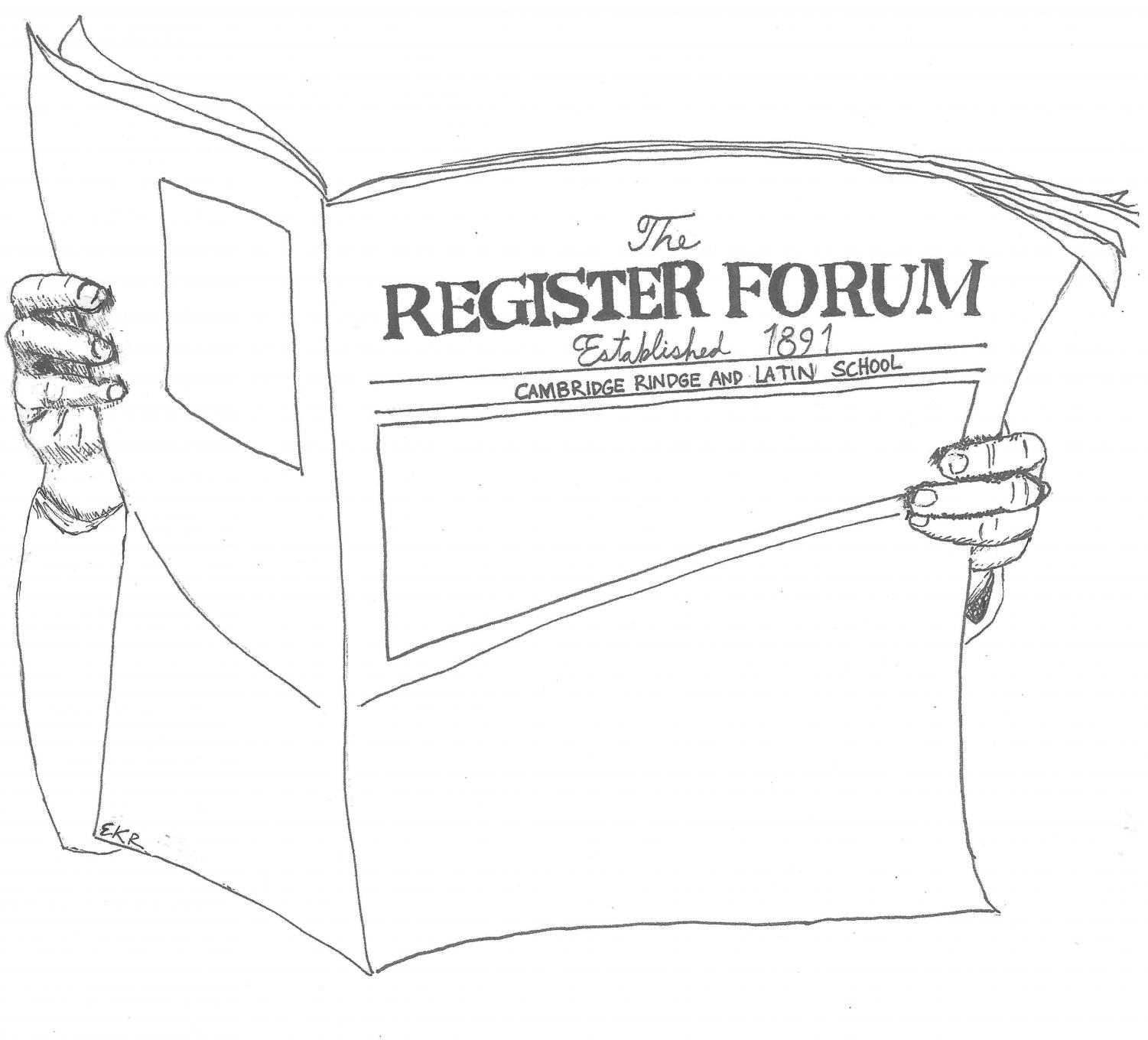 The Register Forum will meet on February 1st to discuss our February edition. All are welcome at our meetings, which take place at 2:30 in Room 2309.