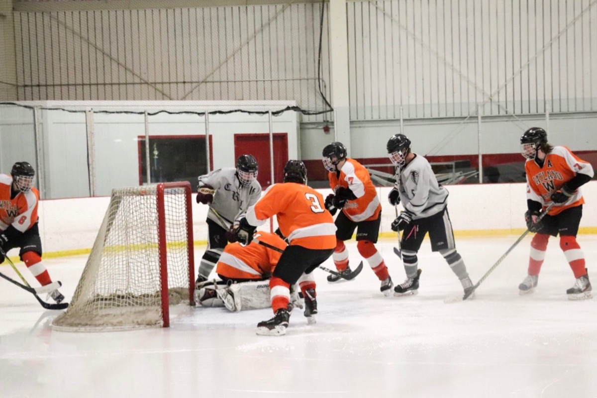 The boys hockey season ended with a 5-2 loss to Wayland.
