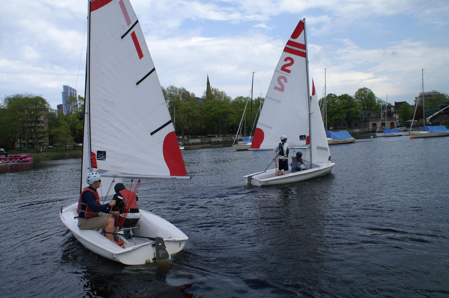 18 students make up the CRLS sailing team.