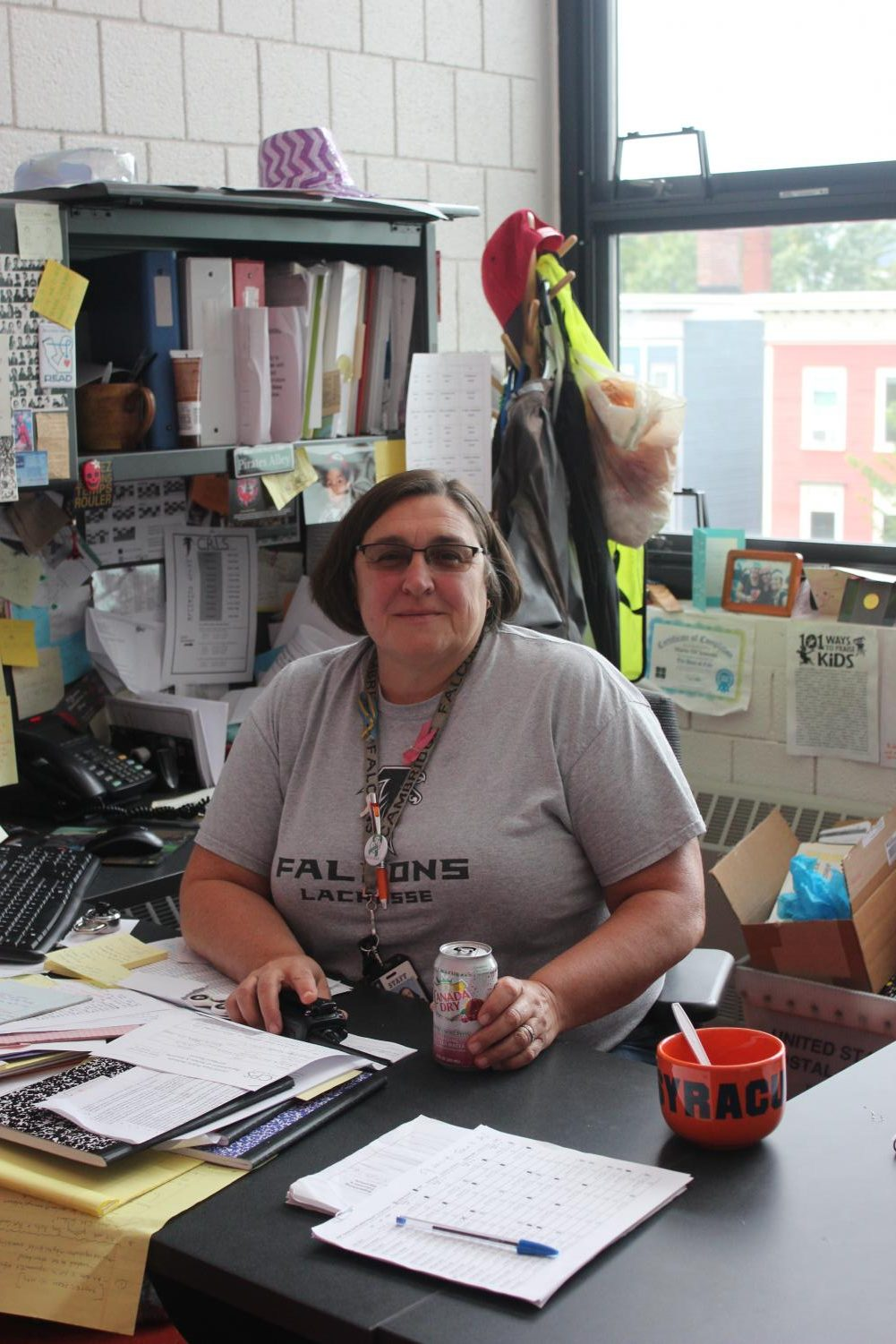 Pictured: Ms. DiClemente '82 in her office.