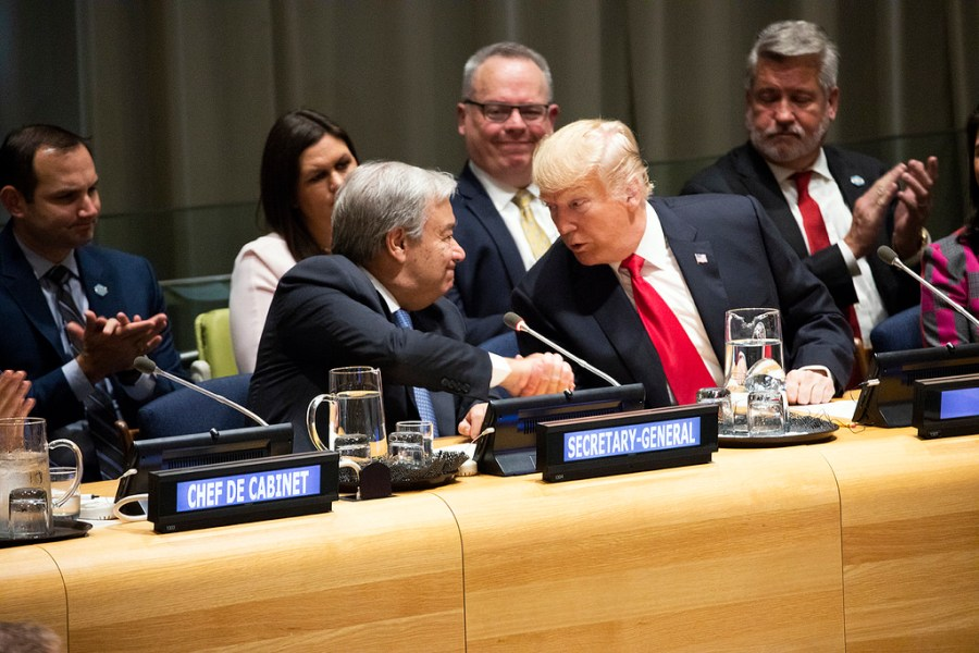 President+Trump+delivered+remarks+to+the+U.N.+on+September+25th.