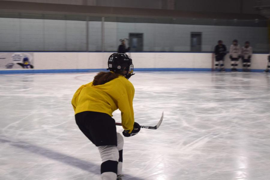 Pictured%3A+CRLS+girls+hockey+practicing+hard+at+Simoni+Ice+Rink+in+Cambridge.