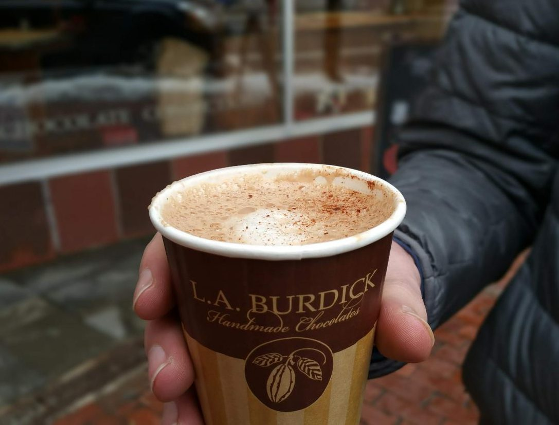 Though expensive, L.A. Burdicks hot chocolate is worth it.