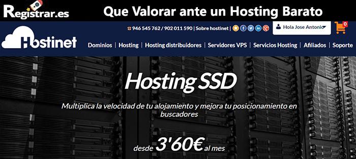 Hosting SSD Hostinet