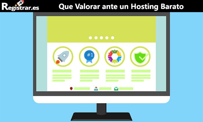 Que valorar ante un hosting barato