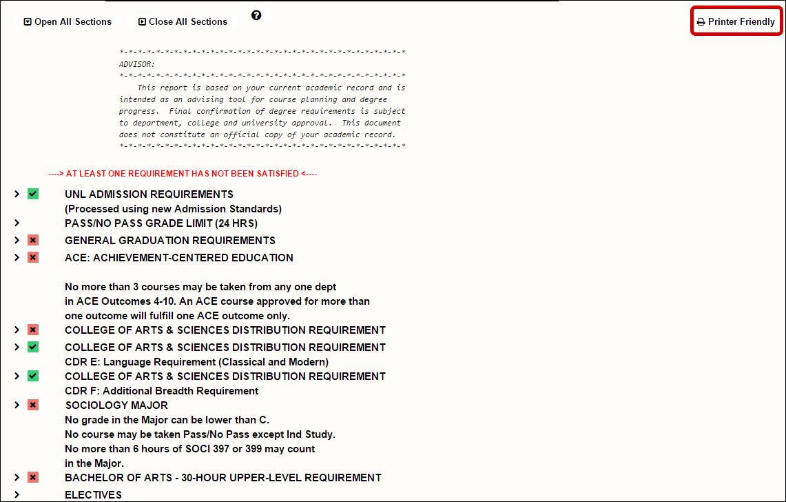 Printer Friendly Link Highlighted