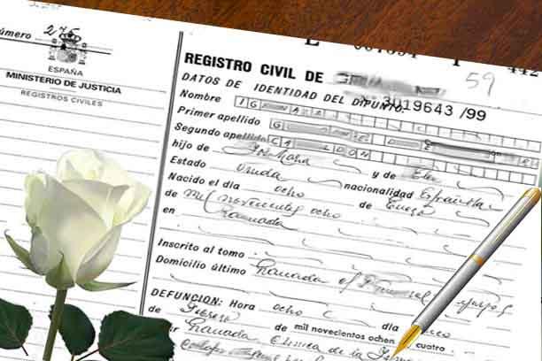 certificado de defuncion en Valencia