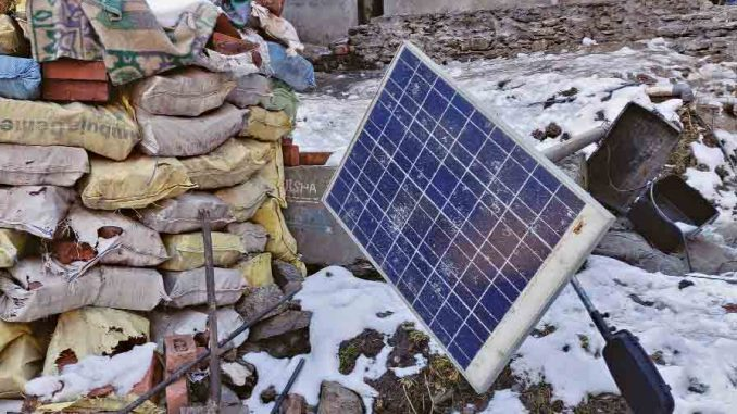 PV waste management in India: Landfill ban recommended for all equipments in a PV system