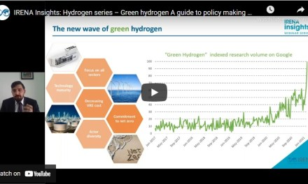 IRENA Hydrogen series – Part 1: Green hydrogen: A guide to policy making