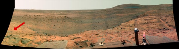 The panoramic view of the Martian surface. Image: NASA