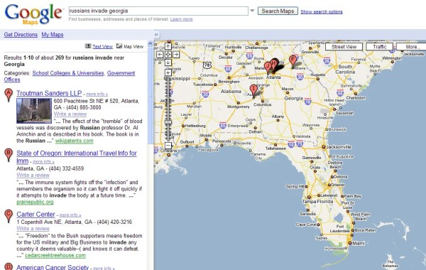 Google maps Russian assault on Savannah The Register