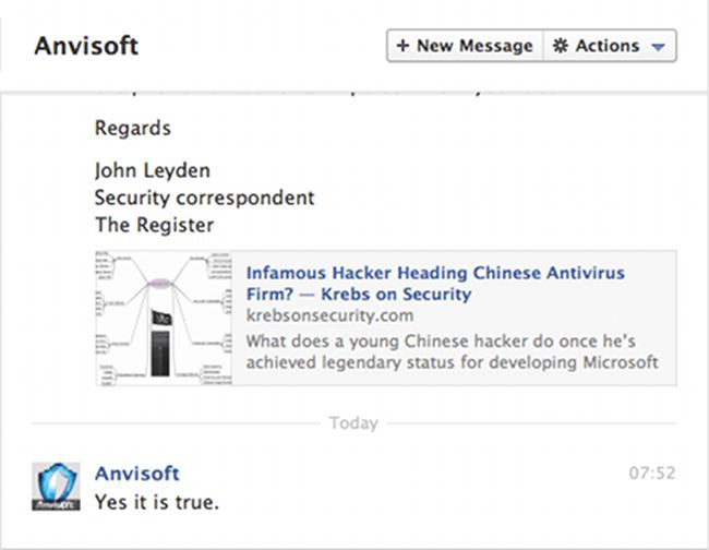 A screenshot of Facebook