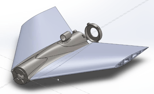 CAD drawing of the Vulture 2's fuselage