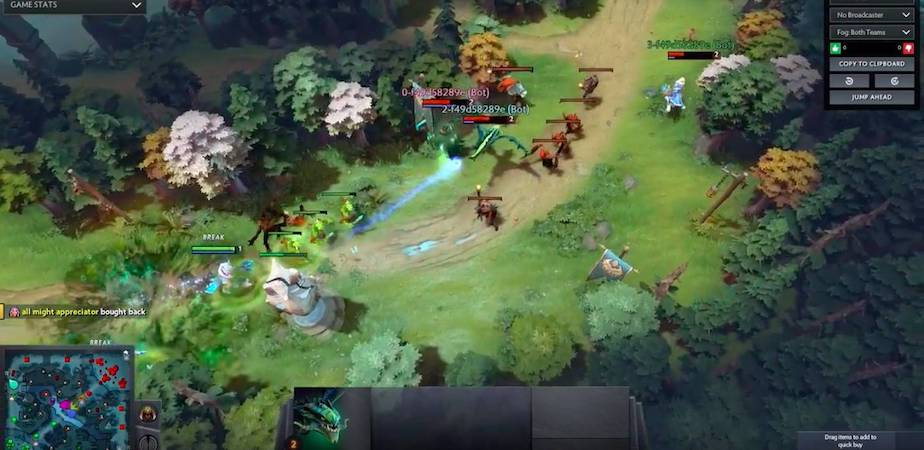 What Does It Take For An OpenAI Bot To Best Dota 2 Heroes