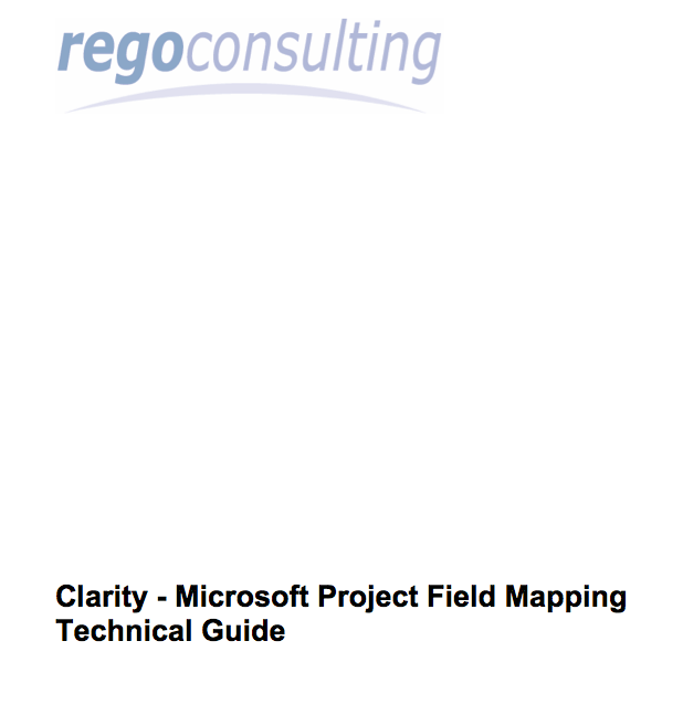 regoXchange :: Guide to Mapping Clarity Fields to MSP