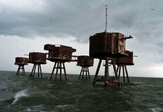 06 - O forte marinho Maunsell na Inglaterra