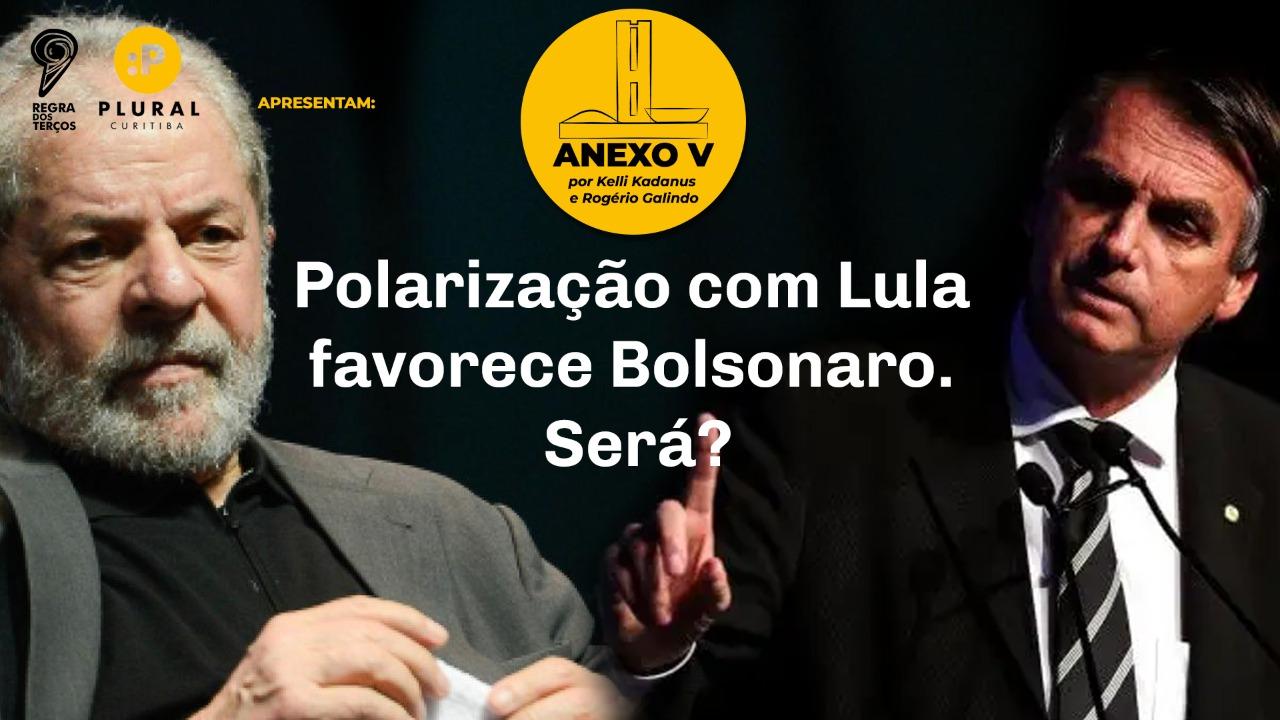 POLARIZAÇÃO COM LULA FAVORECE BOLSONARO. SERÁ?