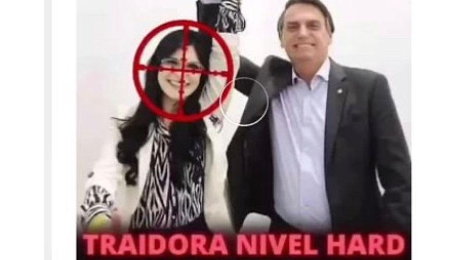 """EDUARDO BOLSONARO PUBLICA FOTO COM MIRA DE RIFLE EM DEPUTADA """"TRAIDORA"""""""